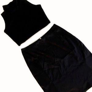 Tommy Hilfiger Black Silver Star Flair Skirt